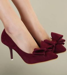 high-heeled shoes Bowknot