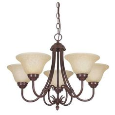 Filament Design Pimentel 5-Light Oil Rubbed Bronze Chandelier-CLI-SS479594 - The Home Depot