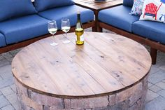 How To Turn Your Fire Pit Into A Coffee Table - Addicted 2 DIY - - Learn how to get the most out of your outdoor fire pit by turning it into an outdoor coffee table during those warm summer months! Fire Pit Table Top, Fire Pit Coffee Table, Fire Pit Seating, Outdoor Coffee Tables, Fire Pit Top, Diy Gas Fire Pit, Make A Fire Pit, How To Make Fire, Fire Pit Backyard