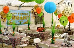 Jungle, Safari, Animals Birthday Party Ideas | Photo 1 of 23 | Catch My Party