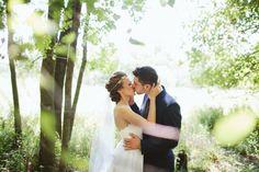 This bride's hair/headband/veil is stunningly beautiful!
