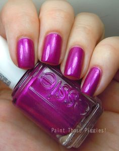 Essie Jamaica Me Crazy by Paint Those Piggies! Cute Pink Nails, Pink Nail Art, Love Nails, Pretty Nails, Essie Pink Nail Polish, Nail Polish Colors, Essie Colors, Get Nails, Hair And Nails