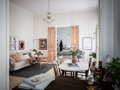 Scandinavian Style, Scandinavian Apartment, Cozy Apartment, One Bedroom Apartment, Scandinavian Interiors, Small Apartments, Small Spaces, Home Living Room, Living Spaces