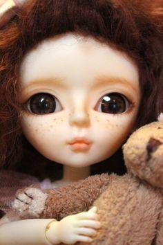 LUCY with her BUNNY Custom BJD Hujoo Yomi 24cm Doll