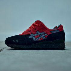 red /black asics shoes gel lyte bad santa kid pictures 647572