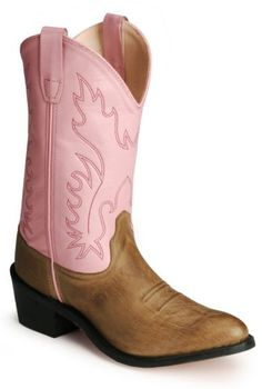 Old West Youth Pink Cowgirl Boots available at #Sheplers