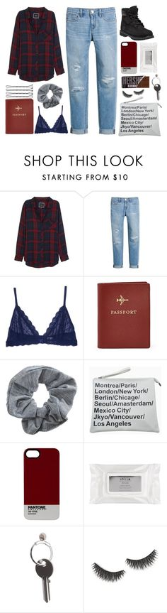 """""""curtain closes, hear the crowd roar"""" by liimitless ❤ liked on Polyvore featuring Rails, White House Black Market, Eberjey, FOSSIL, Topshop, Pantone, Stila, Maison Margiela, shu uemura and Timberland"""