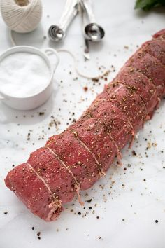 Beef Tenderloin with Cognac Cream Sauce: Juicy slices of Beef Tenderloin with Cognac Cream Sauce make an elegant and impressive centerpiece to any special occasion dinner. Beef Recipes, Cooking Recipes, Game Recipes, Party Recipes, What's Cooking, Lunch Recipes, Beef Tenderloin Recipes, Roast Beef, Roast Brisket