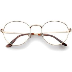 Vintage Dapper 1920's Clear Lens Spectacle Glasses C135 ($11) ❤ liked on Polyvore featuring accessories, eyewear, eyeglasses, vintage clear glasses, vintage round glasses, clear round glasses, metal frame glasses and round eyeglasses