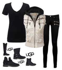 """""""The New Classics With UGG: Contest Entry"""" by im-karla-with-a-k on Polyvore featuring UGG, Paige Denim and ugg"""