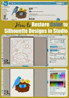 Silhouette tutorial on how to get designs to fill in with color as shown in the Silhouette Online Store.