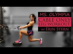 Erin Stern: Your resource for getting fit and staying fit Cable Machine Workout, Cable Workout, Leg And Glute Workout, Dana Linn Bailey, Fitness Motivation, Fitness Gym, Fitness Routines, Fitness Nutrition, Erin Stern