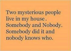 two mysterious people live in my house..