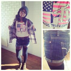 Our girl @d26aeostyle rocking our LST & FND for #AmericanEagle MTV crop!