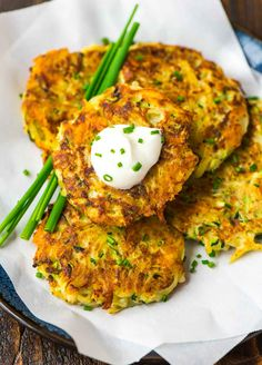 Zucchini Potato and Cheese Fritters. Kids love these! Simple, quick, and delicious. Recipe at wellplated.com   @wellplated