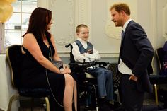 "Kensington Palace on Twitter: ""Prince Harry meets Inspirational Young Person Award winner Danny, and his mother Claire at #WellChildAwards"
