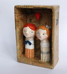 In love  finger puppets by sweetbestiary on Etsy