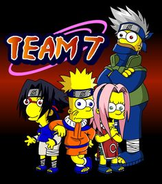 Naruto Simpsons - Team 7 by lloydvdw on DeviantArt