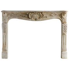 French Louis the 15th period limestone fireplace - 18th century