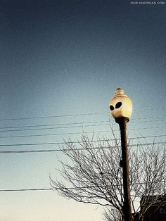 For all my friends who have never been to Roswell...the street lights really do have alien eyes in them!!