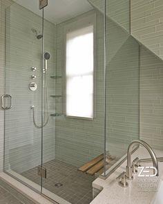 Modern Glass Shower | Green Home Renovation | http://zeroenergy.com/supersize/slideshow/craftsman.html