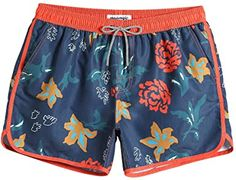 MaaMgic Mens Boys Short 80s 90s Vintage Swim Trunks with Mesh Lining Quick Dry Swim Suits Board Shorts | Amazon.com Retro Swim, Vintage Swim, Boy Shorts, Swim Shorts, Mens Designer Swim Trunks, Casual Dresses For Women, Clothes For Women, Best Hair Straightener, Mens Big And Tall