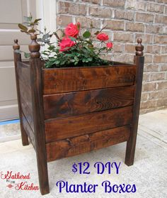 $12 DIY Planter Boxes, Kreg Jig, minwax wood stain