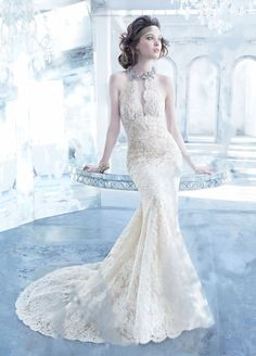 Love this vintage inspired style Bridal Gowns, Wedding Dresses by Lazaro - Style LZ3351