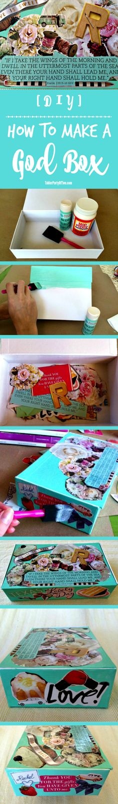 How to Make a God Box. it's a prayer box and it's the perfect way to record your prayers and thoughts, as well as God's answer to those prayers! (Diy Box How To Make) Prayer Box, God Prayer, Church Games, Church Crafts, Prayer Warrior, Bible Crafts, Diy Box, Bible Lessons, Christian Gifts