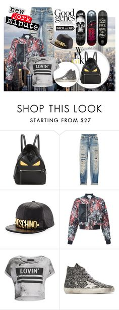 """""""NYC"""" by serena4438 ❤ liked on Polyvore featuring Fendi, R13, Moschino, 3.1 Phillip Lim, Religion Clothing and Golden Goose"""