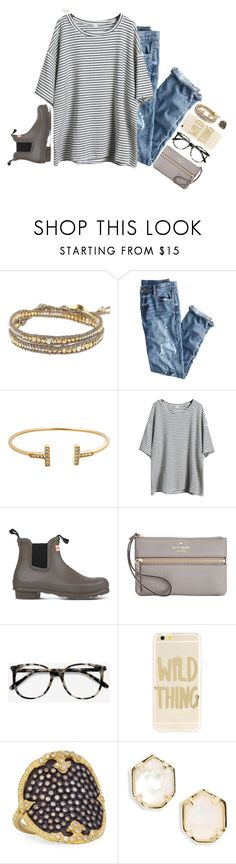 """""""psat test ://"""" by katie-tx ❤ liked on Polyvore featuring Chan Luu, J.Crew, Hunter, Kate Spade, Ace, Sonix, Armenta and Kendra Scott"""