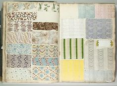 Textile Sample Book    Date:      1821  Culture:      French  Met Museum