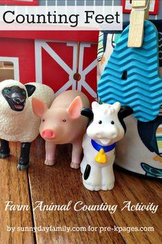 Farm Theme Counting Activity for Preschool