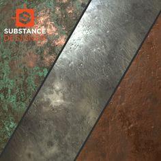 metal substances, Alexander Asmus on ArtStation at https://www.artstation.com/artwork/8E4a6