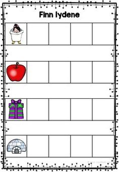Finn lydene - Firelydsord by LaerMedLyngmo Teacher Appreciation Week, Teacher Pay Teachers, Education, Learning, 2nd Grades, First Grade, Studying, Teaching, Onderwijs