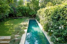 In central London, Pierre Yovanovitch puts a modern spin on a turn-of-the century home—with a pool to die for Pierre Yovanovitch, South Facing Garden, Backyard Pool Designs, Backyard Lap Pools, Pool Pool, Outdoor Living, Outdoor Decor, Architectural Digest, Interior And Exterior