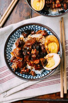 Lu rou fan, a Taiwanese comfort food classic of braised pork belly over rice, is probably the best recipe to come out of our kitchen this month.
