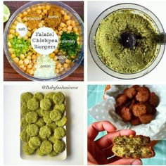 Homemade vegan Falafel patties - super delicious and great as finger food for babies and toddlers - Easy recipe I promise! Baby Puree, Toddler Meals, Kids Meals, Toddler Food, Baby Meals, Toddler Recipes, Fingerfood Baby, Comidas Fitness, Falafel Recipe