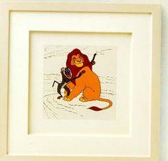 Walt Disney's The Lion King Limited Edition Framed Etching starring Mufasa Rafiki Monkey