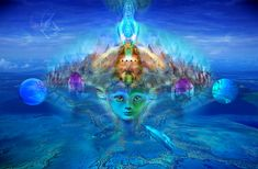 Surreal-art,Fantasy-Art,higher consciousness-art,Dolphins,Whales,fairies,souls,dragons. Jean-Luc Bozzoli art