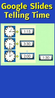 This Google Slides, Telling Time digital resource helps students master telling time to the hour, half hour and 5 minute increments. An interactive and engaging way to practice telling time skills while covering math Common Core Standards. Movable answer pieces! #technologyintheclassroom #MathCenters #tpt #TellingTime #TellingTimeActivities #NoPrep #mathcenters #TeacherFeatures #tellingtime2nd #technologyintheclassroom #1stGrade #FirstGrade #2ndGrade #SecondGrade