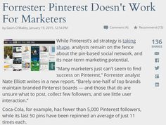 """""""Forrester: Pinterest Doesn't Work For Marketers"""" by @mediapost"""