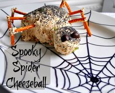 Spooky Spider Cheese Ball
