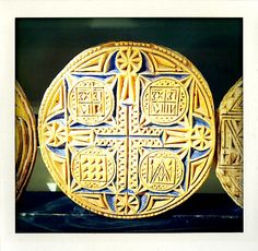 Prosphera Orthodox holy bread stamp (photo by Abigail Doan)
