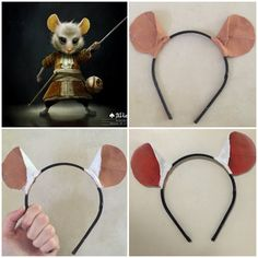 PART 2 This is about decorating/painting, if you missed the template of how to make these ears pleas Dormouse Alice In Wonderland, Alice In Wonderland Costume, Wonderland Party, Book Costumes, Disney Costumes, Costume Ideas, Mad Hatter Party, Mad Hatter Tea, Halloween Costumes For Work