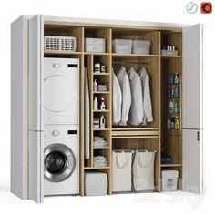 Bathroom Design Luxury, Bathroom Interior, Laundry Mud Room, Bathrooms Remodel, Laundry Room Layouts, Stylish Laundry Room, Dream Laundry Room, Stacked Laundry Room, Laundry Cupboard