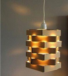 diyfundideas: DIY Cool Cardboard Lamp