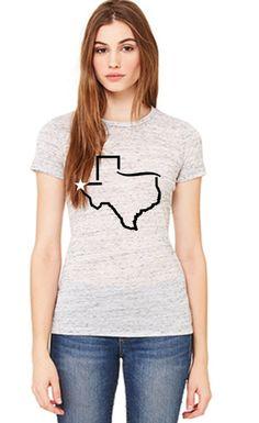 El Paso Texas - White Wash with Black and White Print- Womens