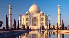 The Taj Mahal has the most romantic history. The curved spires and details in the architecture are so inviting.