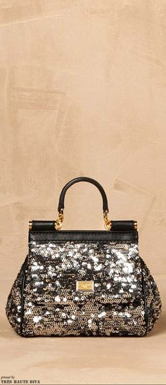Dolce & Gabbana Mini Sequined Sicily Bag